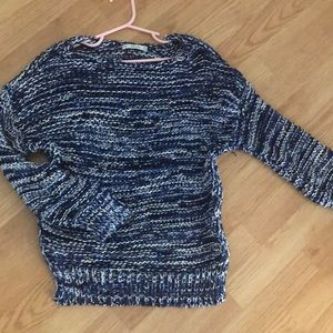 Zara blue and white knit sweater size small